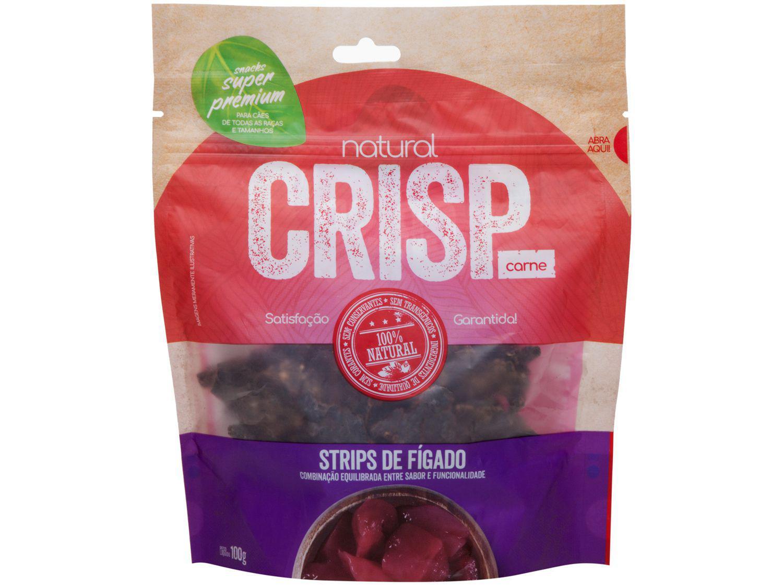Petisco para Cachorro Adulto Natural Crisp - Strips de Fígado 100g