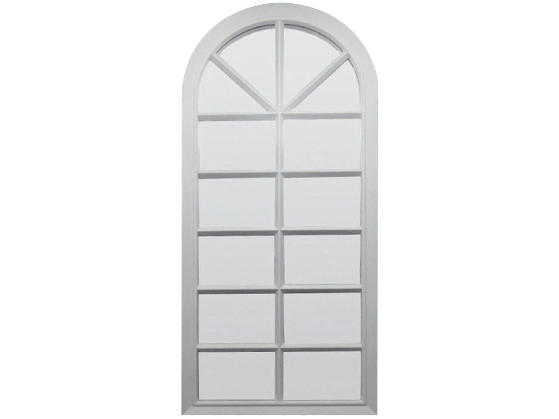 Espelho Decorativo Retangular com Moldura - de Parede Branco 76x33cm Inova Veneza