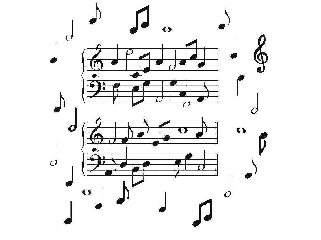 Adesivo Decorativo 3D Música PVC e EVA Adesif - Notas Musicais