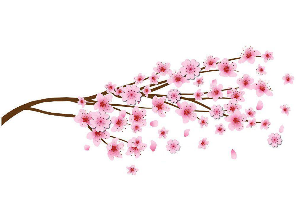 Adesivo Decorativo 3D Floral PVC e EVA Adesif - Flor de Pêssego