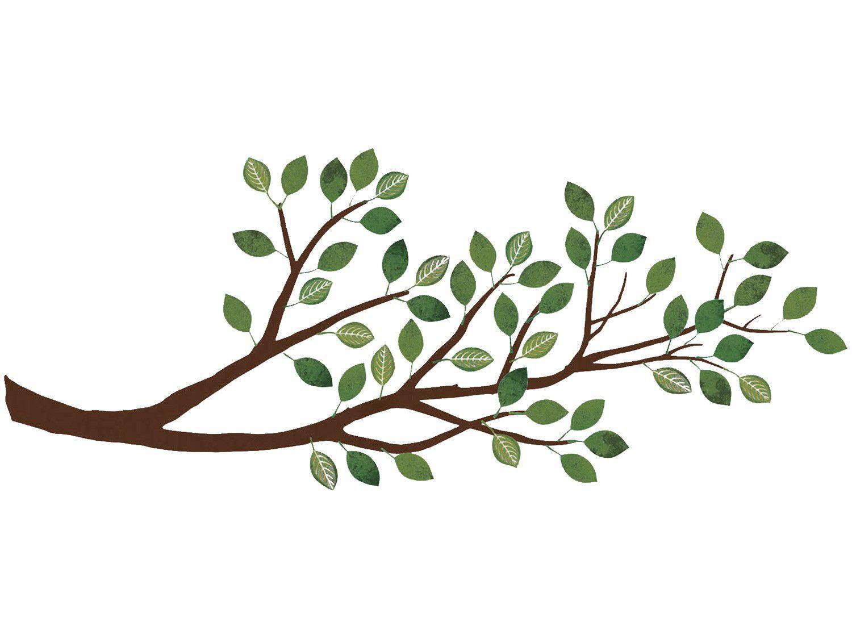 Adesivo Decorativo 3D Natureza PVC e EVA Adesif - Folhas Verdes