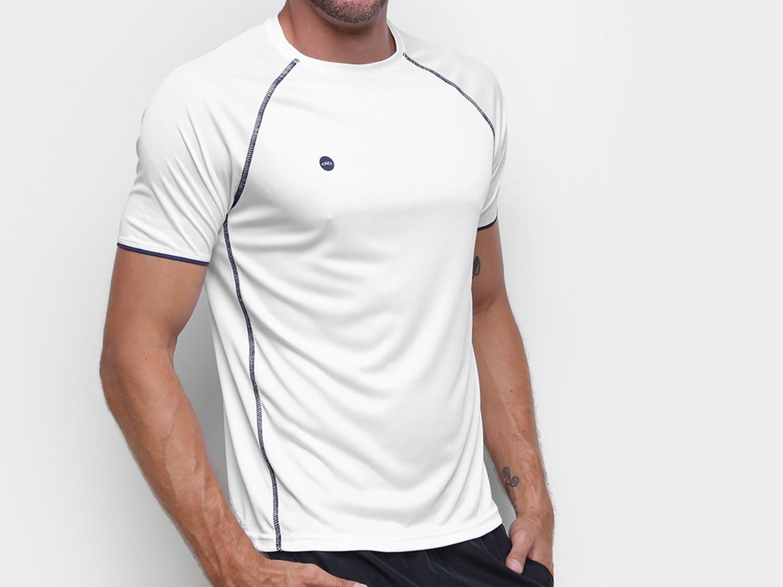 Camiseta Fitness e Musculação Olympikus - Colors Masculina Branca