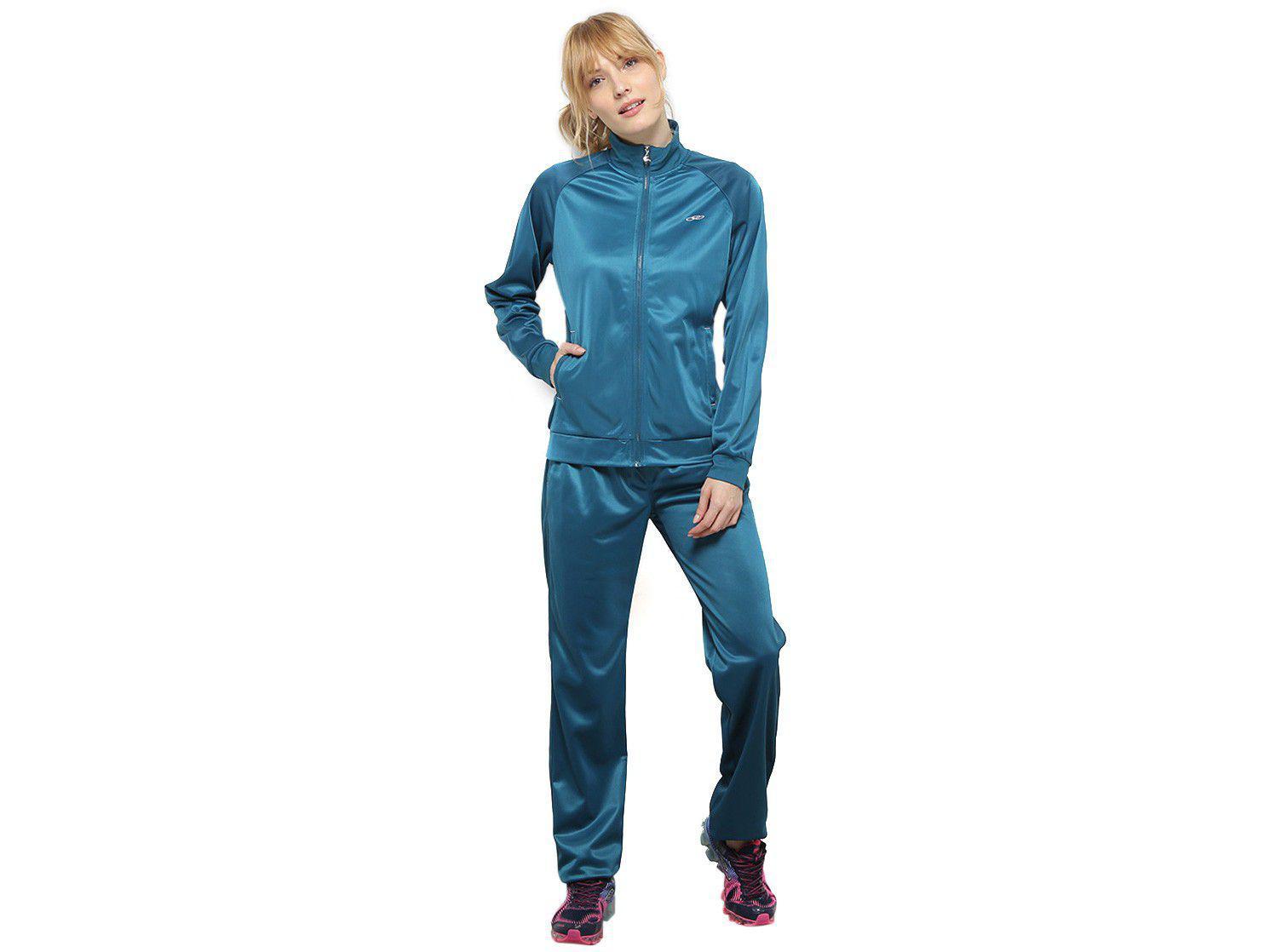 Agasalho Olympikus Essential Feminino - Azul Turquesa