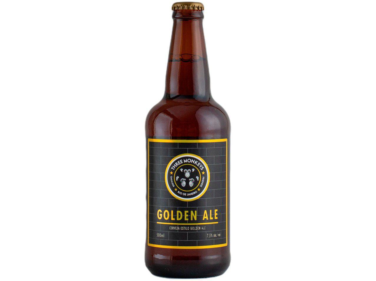 Cerveja Three Monkeys Beer Golden Ale 500ml