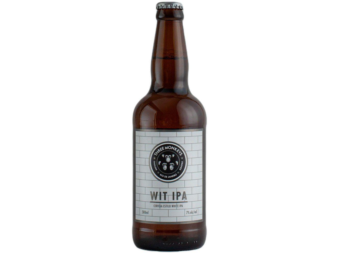Cerveja Three Monkeys Beer Wit IPA Ale 500ml