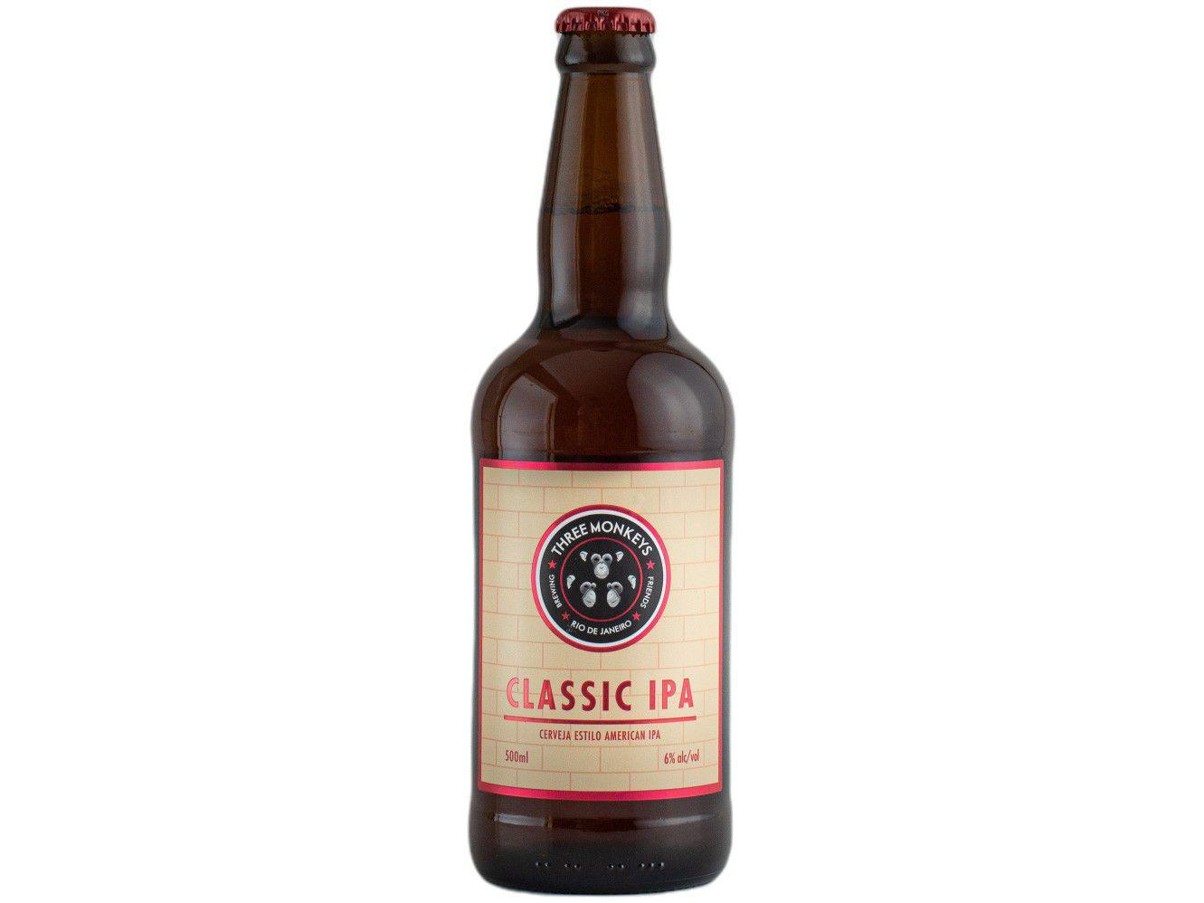 Cerveja Three Monkeys Beer Classic IPA Ale 500ml