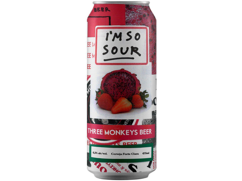 Cerveja Three Monkeys Beer Im So Sour Ale 473ml