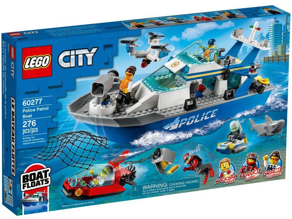 LEGO City Barco da Patrulha da Polícia 276 peças - 60277