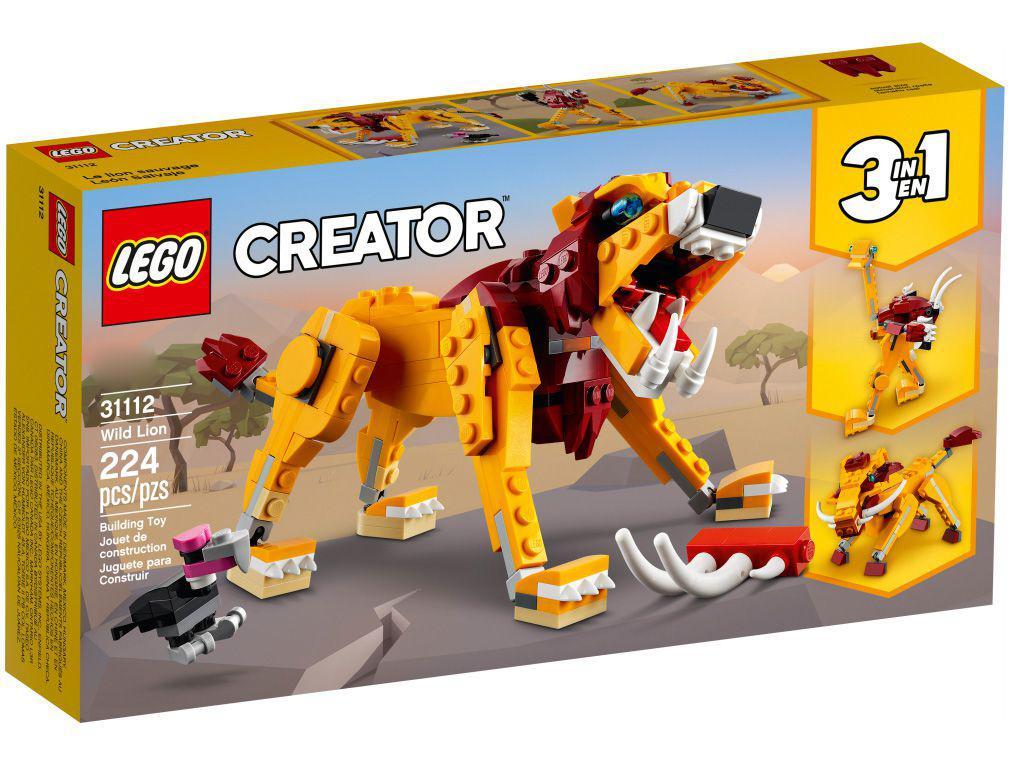 LEGO Creator Leão Selvagem 224 Peças 31112