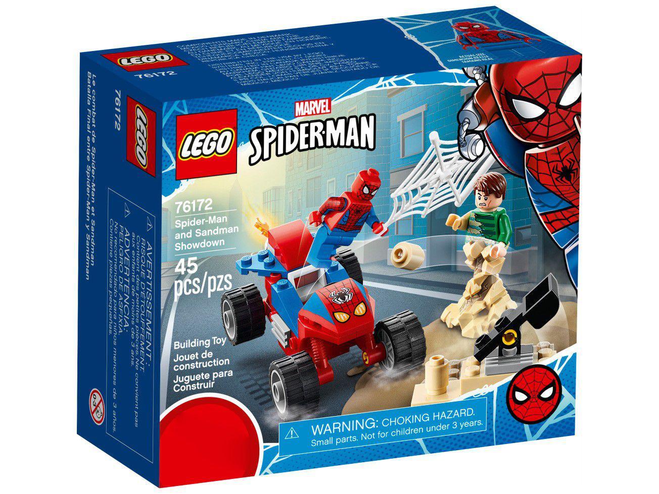 LEGO Marvel Confronto Homem-Aranha e Sandman - 45 Peças 76172