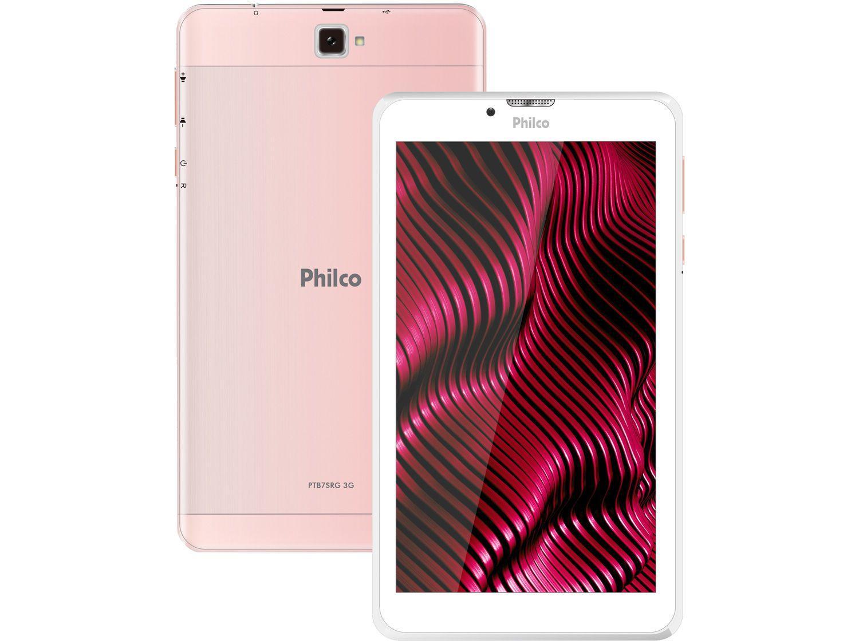 """Tablet Philco PTB7SRG 7"""" 3G Wi-Fi 16GB - Android 9.0 Quad-Core Câmera Integrada"""