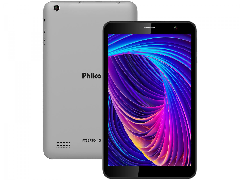"Tablet Philco PTB8RRG 8"" 4G Wi-Fi 32GB - Android 10 Quad-Core Câm. 5MP + Selfie 2MP"