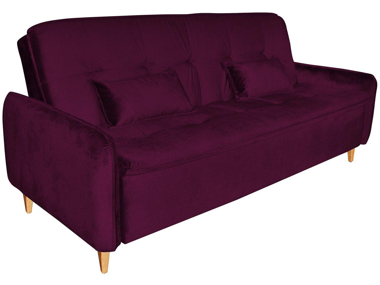 Sofá-cama Casal 3 Lugares Reclinável Suede - Matrix Donna