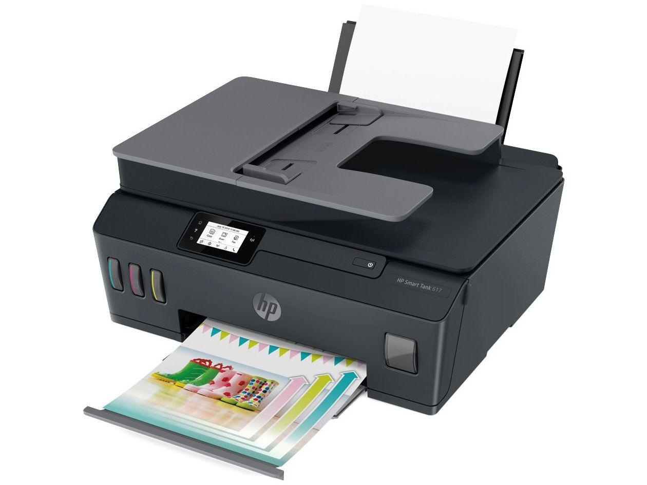 Impressora Multifuncional HP Smart Tank 617 - Tanque de Tinta Colorida Wi-Fi ADF