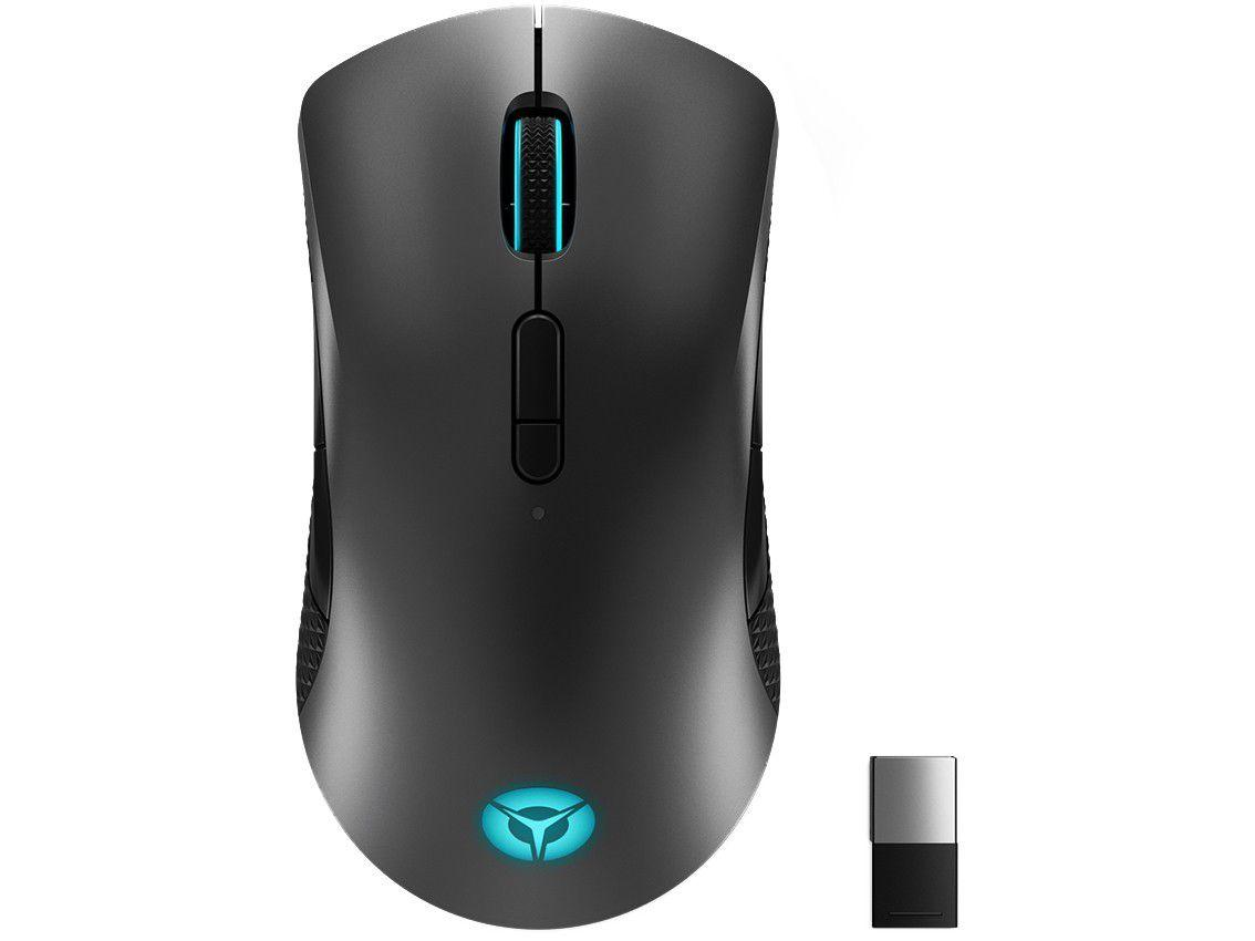 Mouse Gamer sem Fio Lenovo Óptico 16000DPI - 9 Botões M600 Preto