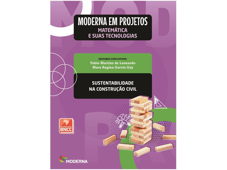 Livro Moderna em Projetos Sustentabilidade - Matemática Ensino Médio Obra Coletiva