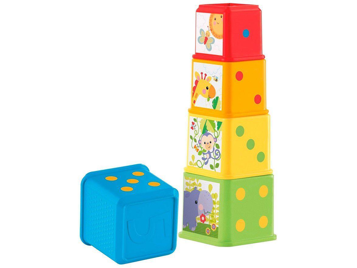 Blocos de Montar Fisher-Price Meus Primeiros - Blocos De Animaizinhos Mattel 5 Peças