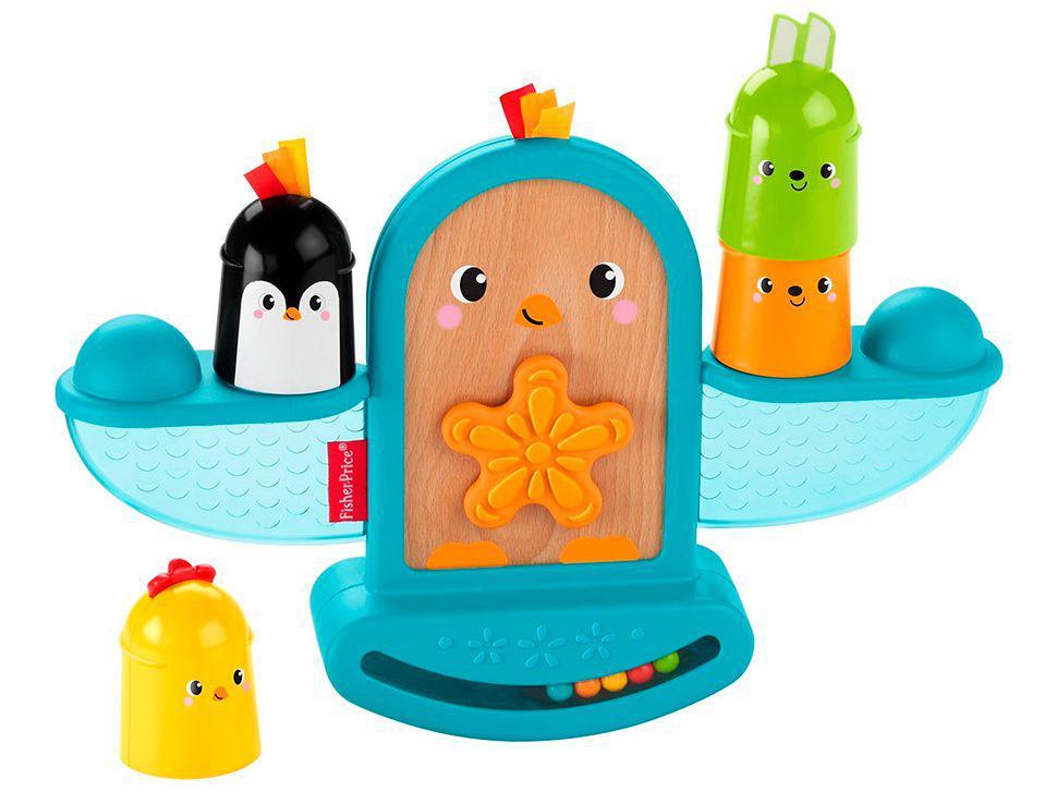 Brinquedo Interativo Fisher-Price - Pintinho Empilhando e Aprendendo Mattel