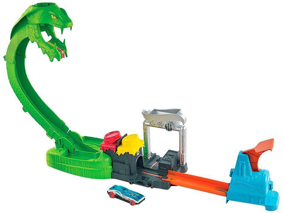 Pista Hot Wheels City Ataque Tóxico Da Serpente - Mattel