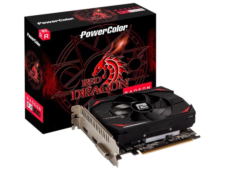 Placa de Vídeo Power Color Radeon RX 550 4GB - DDR5 128 bits