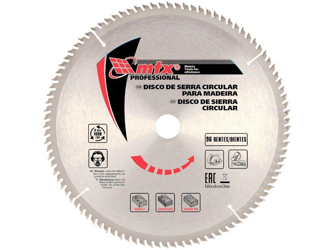 """Disco de Serra Circular 14"""" 96 Dentes para Madeira - MTX Widea"""