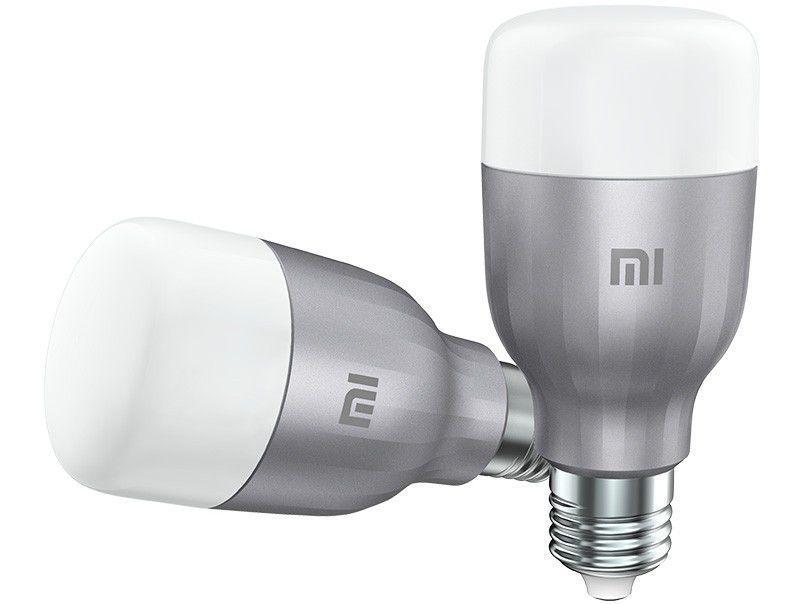 Lâmpada Inteligente Xiaomi E27 RGB 10W Mi LED - Smart Bulb Wi-Fi compatível com Alexa 2 Unidades