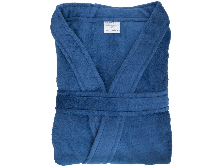 Roupão Atlântica Kimono de Microfibra Azul Veleiro