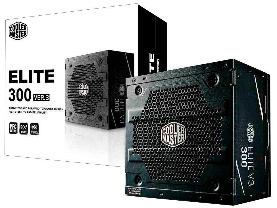 Fonte para PC 300W ATX Cooler Master ELITE V3 300 - com Cabo