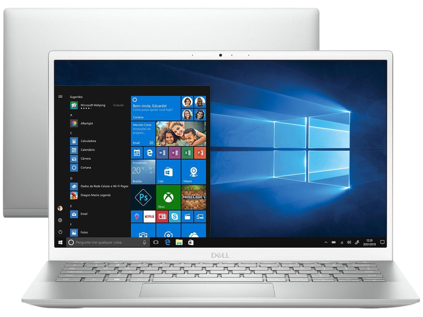 """Notebook Dell Inspiron 13 5301-A20S Intel Core i5 - 8GB 512GB SSD Optane 32GB 13,3"""" Full HD Windo"""