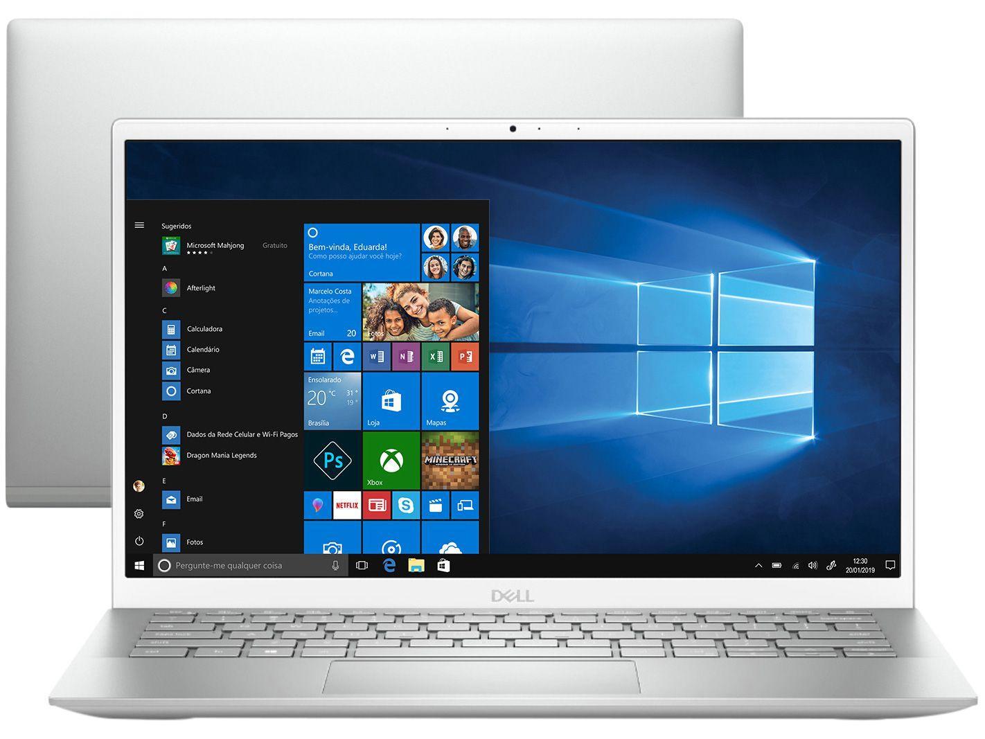 """Notebook Dell Inspiron 13 5301-A30S Intel Core i7 - 8GB 512GB SSD Optane 32GB 13,3"""" Full HD Windo"""