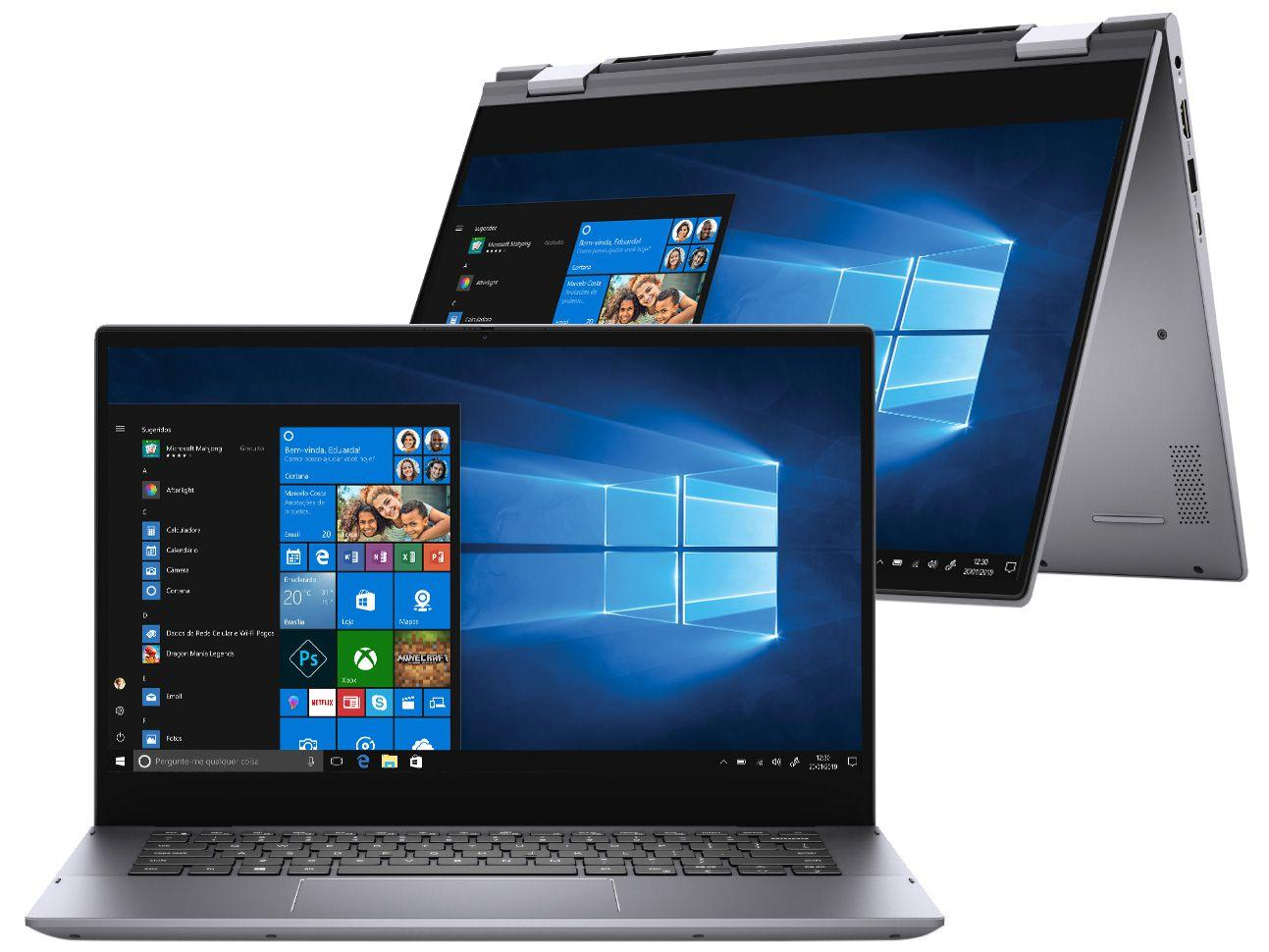 """Notebook 2 em 1 Dell Inspiron 14 5000 5406-A20S - Intel Core i5 8GB 256GB SSD 14"""" Touch Windows"""