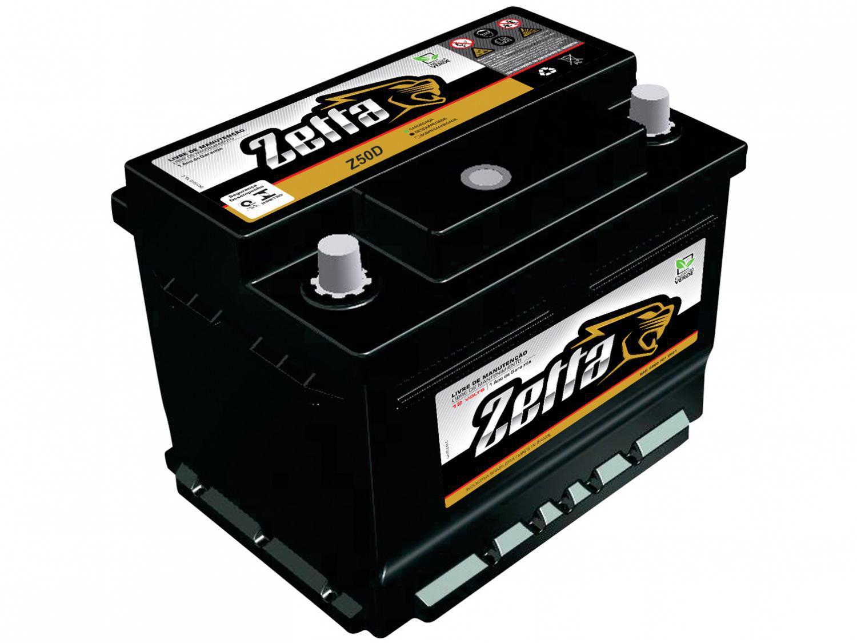Bateria de Carro Zetta Flooded Advanced - 50Ah 12V Polo Positivo Direito Z50D MGE
