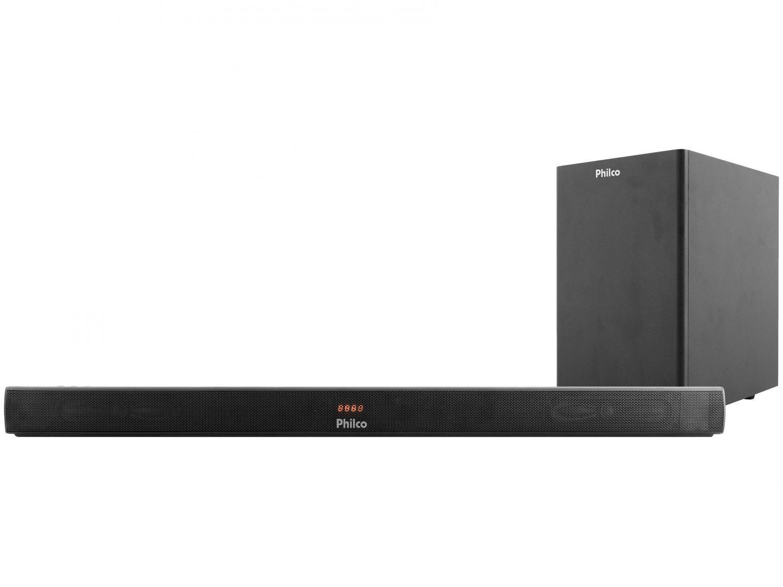 Soundbar Philco PSB05 com Subwoofer - Wireless 320W 2.1 Canais USB