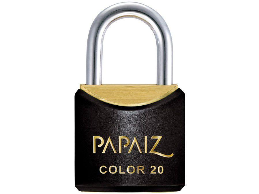 Cadeado Chave Papaiz Color Line 20mm Preto