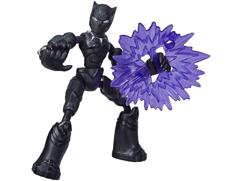Boneco Marvel Vingadores Bend and Flex - Pantera Negra 15cm com Acessórios Hasbro