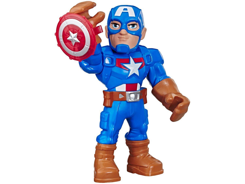 Boneco Capitão América Playskool Heroes Marvel - Super Hero Adventures Mega Mighties 25cm Hasbro