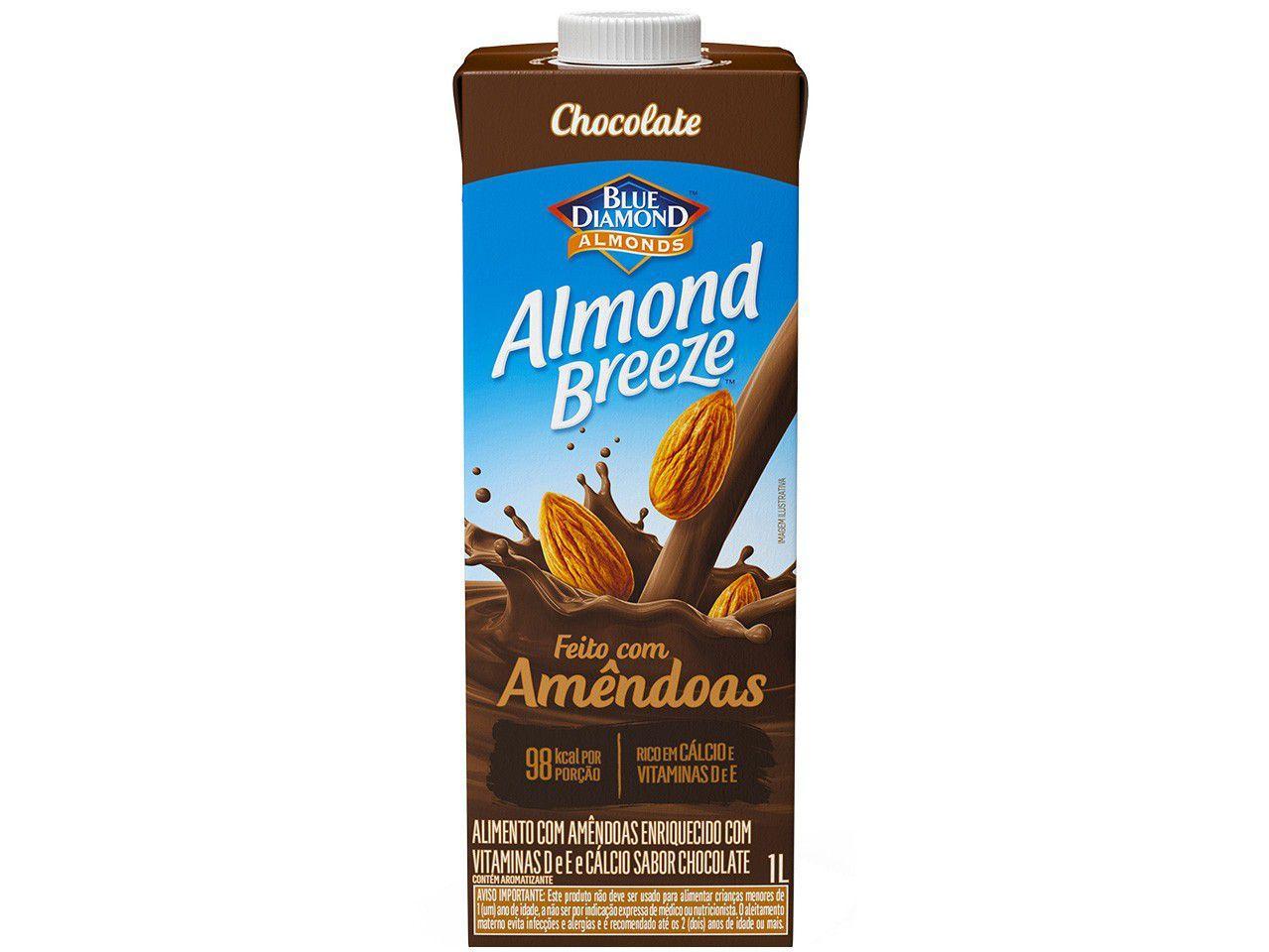 Bebida Vegetal de Amêndoas Almond Breeze - Chocolate 1L