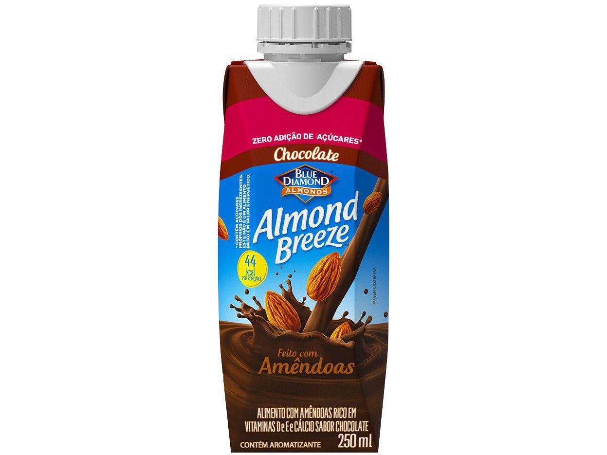 Bebida Vegetal de Amêndoas Almond Breeze - Chocolate Zero Açúcar 250ml