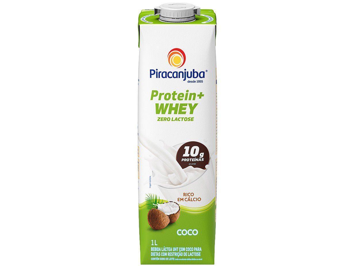 Bebida Láctea Piracanjuba Protein + Whey - Coco Zero Lactose 1L