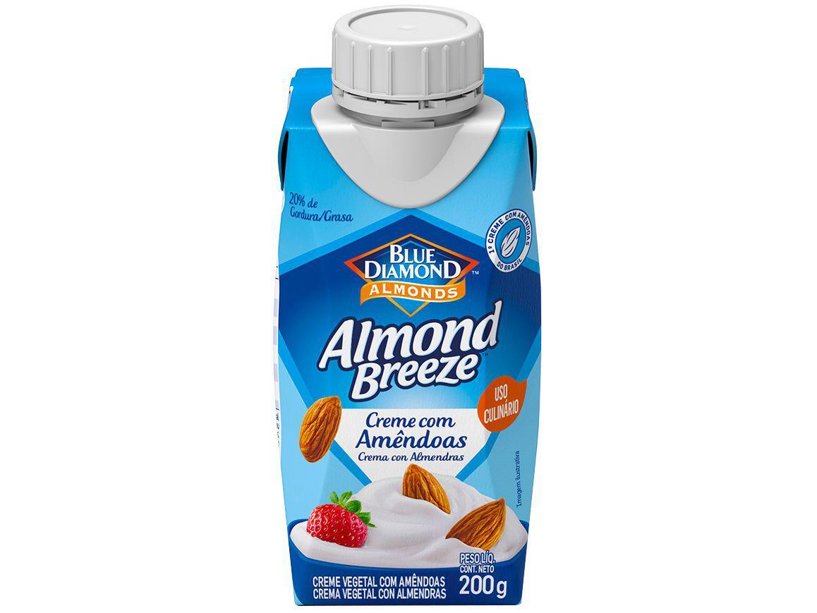 Creme Vegetal de Amêndoas Vegano Almond Breeze - 200g