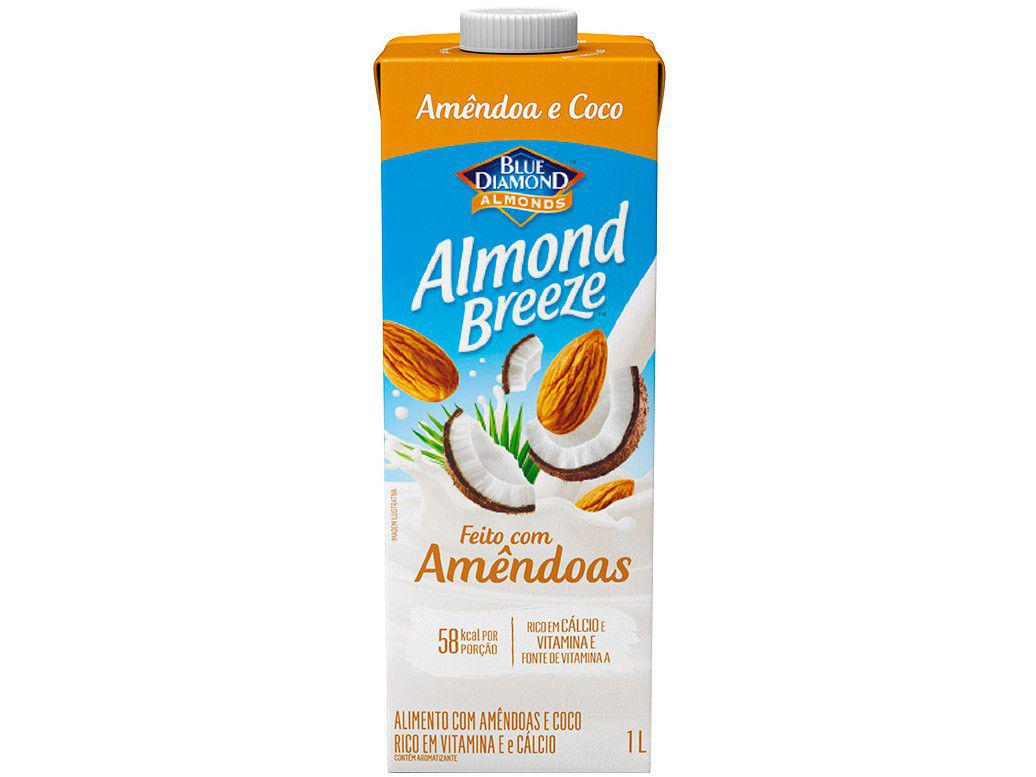 Bebida Vegetal de Amêndoas Almond Breeze - Amêndoa e Coco Vegano 1L