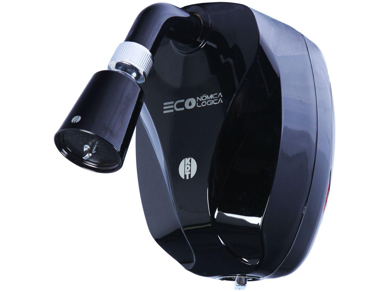"""Ducha KDT Eco Black 1/2"""" 7500W Temperatura Gradual - Preta"""