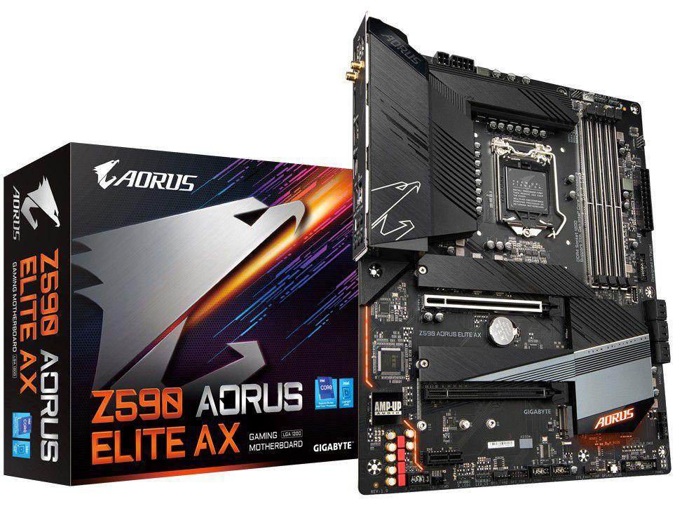 Placa Mãe Gigabyte Z590 Aorus Elite AX Intel - LGA 1200 DDR4 ATX