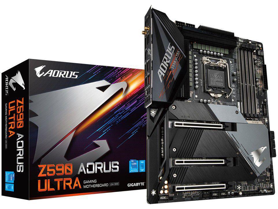 Placa Mãe Gigabyte Z590 Aorus Ultra Intel - LGA 1200 DDR4 ATX