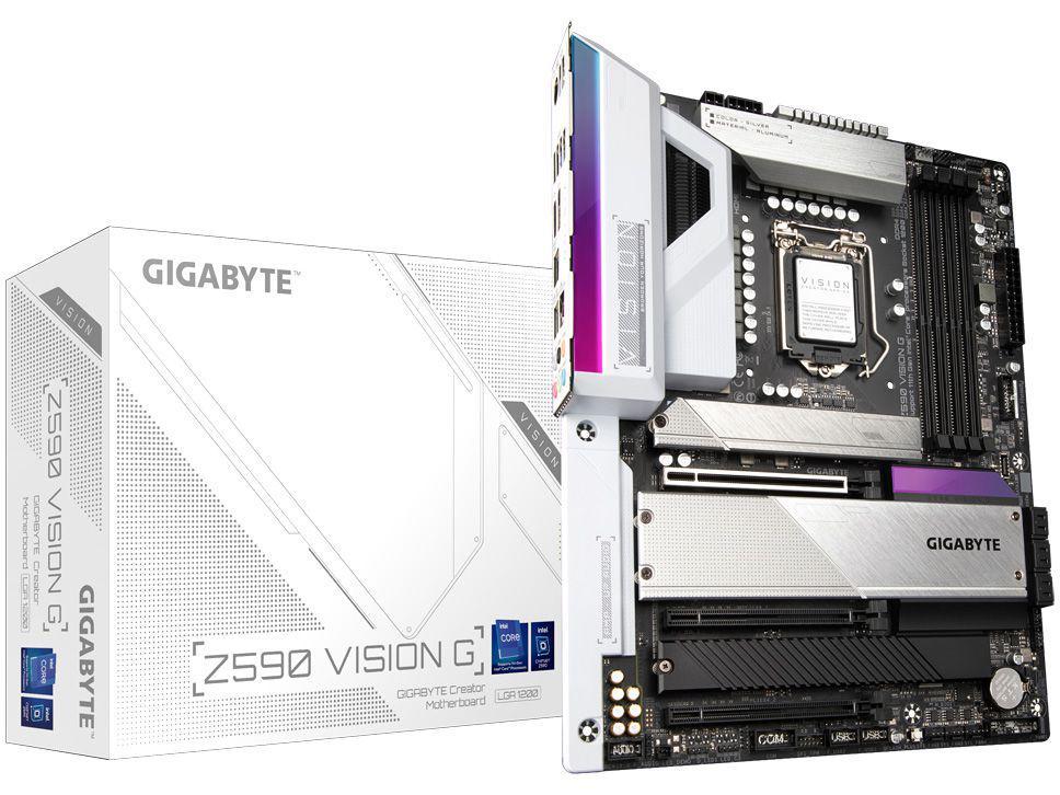 Placa Mãe Gigabyte Z590 Vision G Intel - LGA 1200 DDR4 ATX