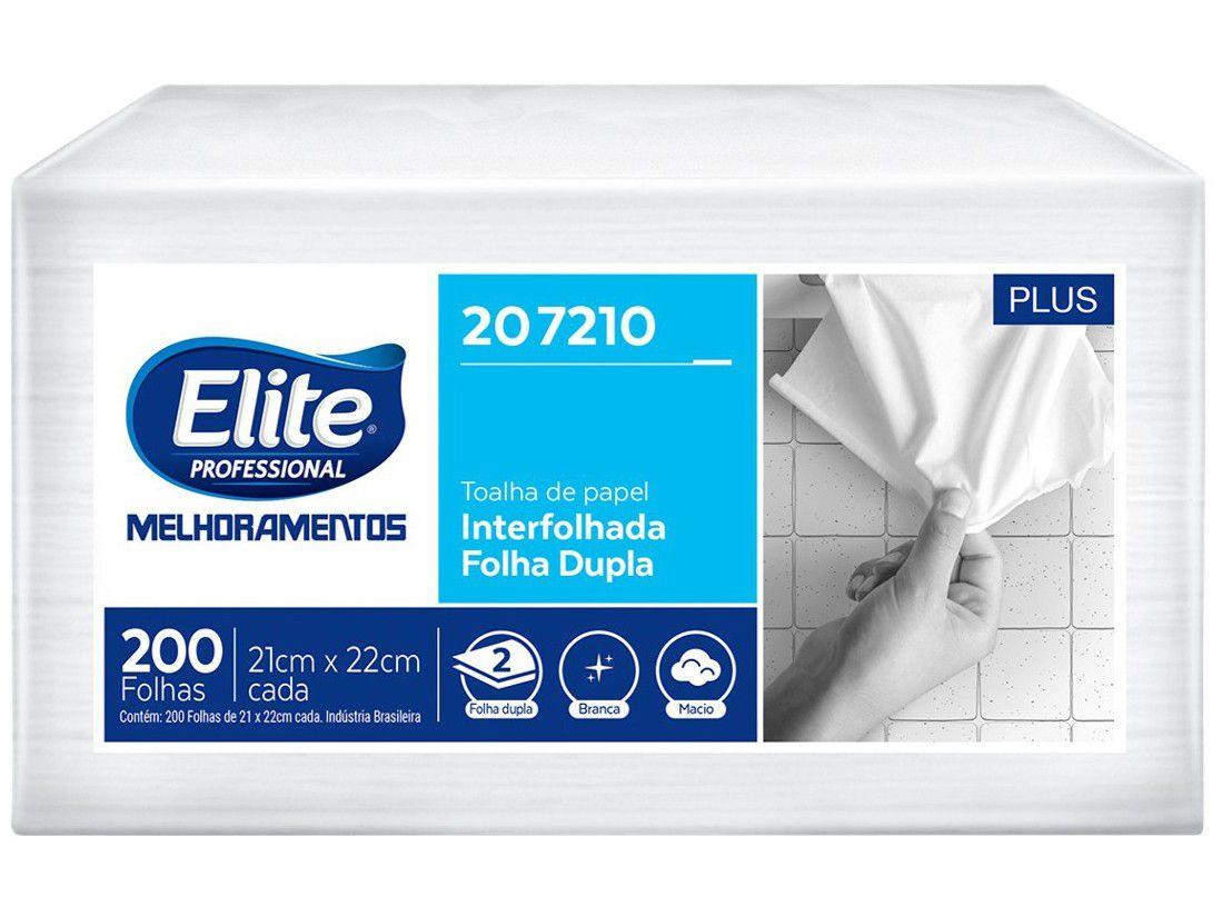 Papel Toalha Folha Dupla Interfolhado - Elite Professional Plus 200 Folhas