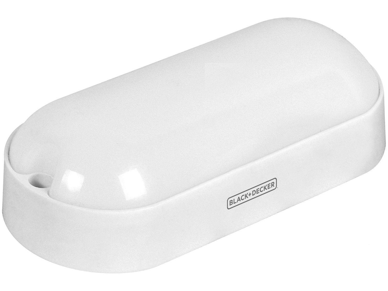 Plafon LED de Sobrepor Oval 12W Black+Decker - Tartaruga Eco Branco