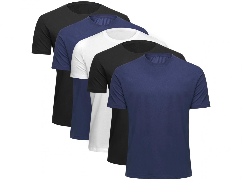 Kit 5 Camisetas Básicos Masculina