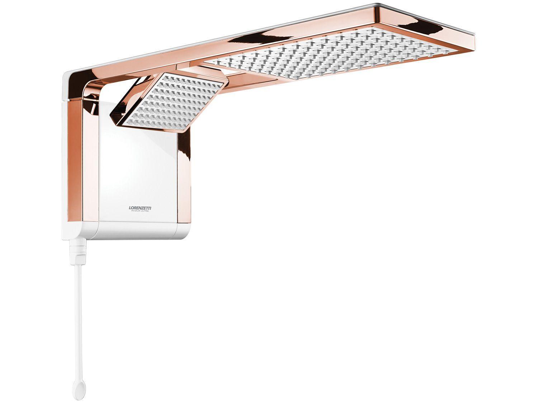 Chuveiro Lorenzetti Acqua Duo Ultra 7510125 - 6800W Branco e Rose Gold Temperatura Gradual