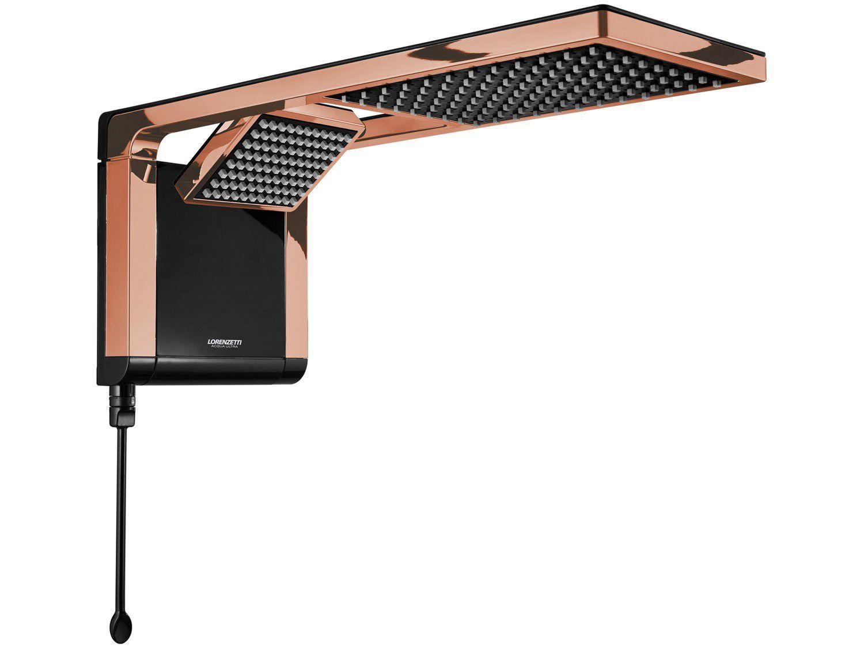Chuveiro Lorenzetti Acqua Duo Ultra 7800W - Black e Rose Gold Temperatura Gradual